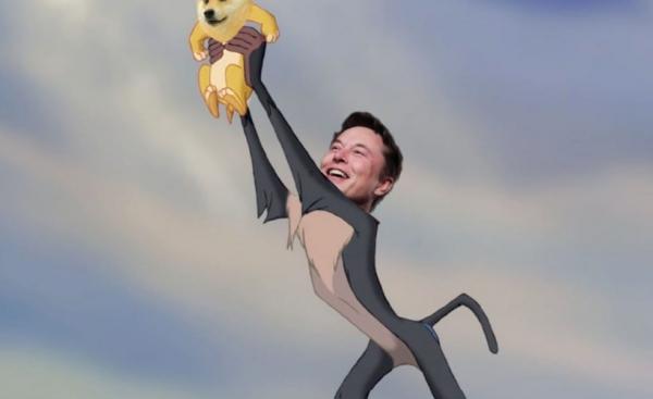 Илон Маск снова пампит DOGE в Twitter